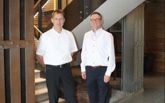 Heinrich Lünenschloß und Andreas Wilhelm von der Köster GmbH in Braunschweig. Foto: Stephanie Link