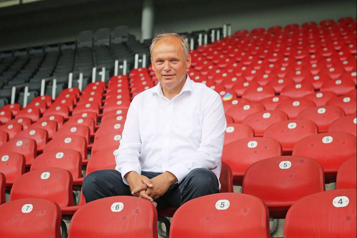 Sebastian Ebel, Vorstandsmitglied der TUI AG und Vorsitzender des Aufsichtsrates der Eintracht Braunschweig GmbH & Co. KGaA. Foto: Merle Janßen