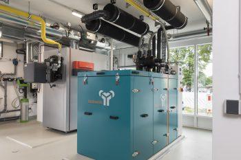 Das Wohnquartier Lindenhof in Gifhorn-Gamsen: Ein eigenes Blockheizkraftwerk erzeugt Strom und versorgt die Anlage mit Warmwasser und Heizwärme. Peter Sierigk/Stadtwerke Gifhorn