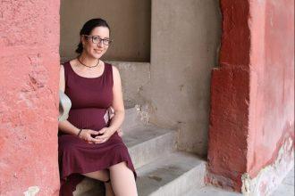 Nach kurzer Elternzeit wird Vanessa-Isabelle Reinwand- Weiss im November dieses Jahres wieder die Geschäfte an der Bundesakademie leiten. Foto: Derya Özlük