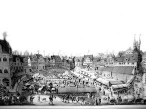 Der Braunschweiger Herzog Rudolf August initiiert 1681 zwei Messen, die auf dem Kohlmarkt und den umliegenden Plätzen und Straßen stattfinden. Foto: Archiv