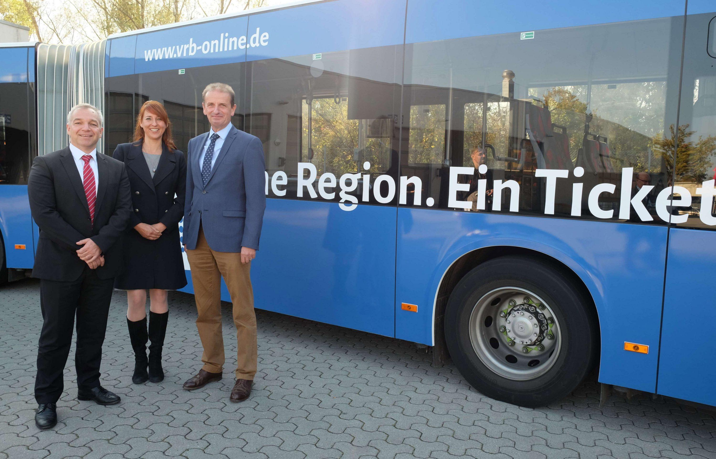 Geschäftsführer Timo Kaupert, Geschäftsstellen-Leiterin Katja Keil und Geschäftsführer Hennig Brandes. Foto: VRB
