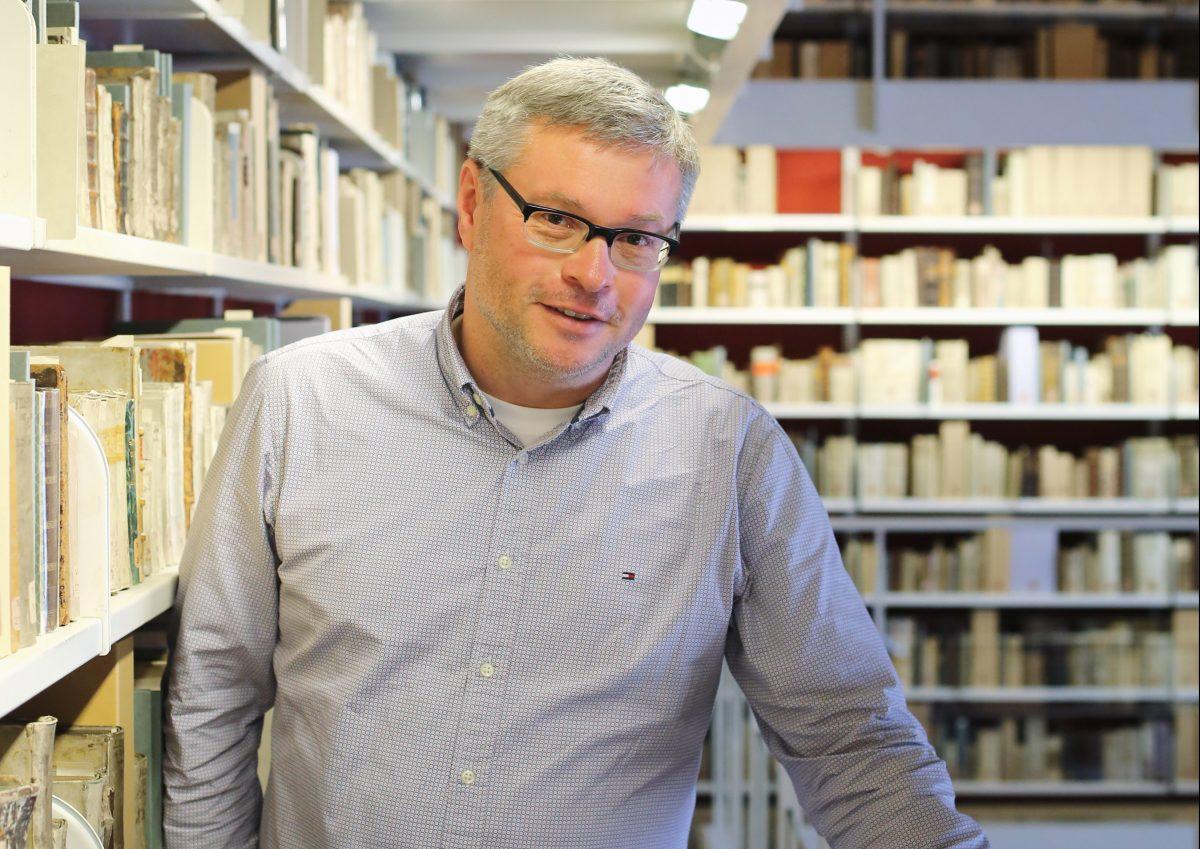 Prof. Dr. Peter Burschel, Direktor der Herzog August Bibliothek Wolfenbüttel. Foto: Stephanie Link