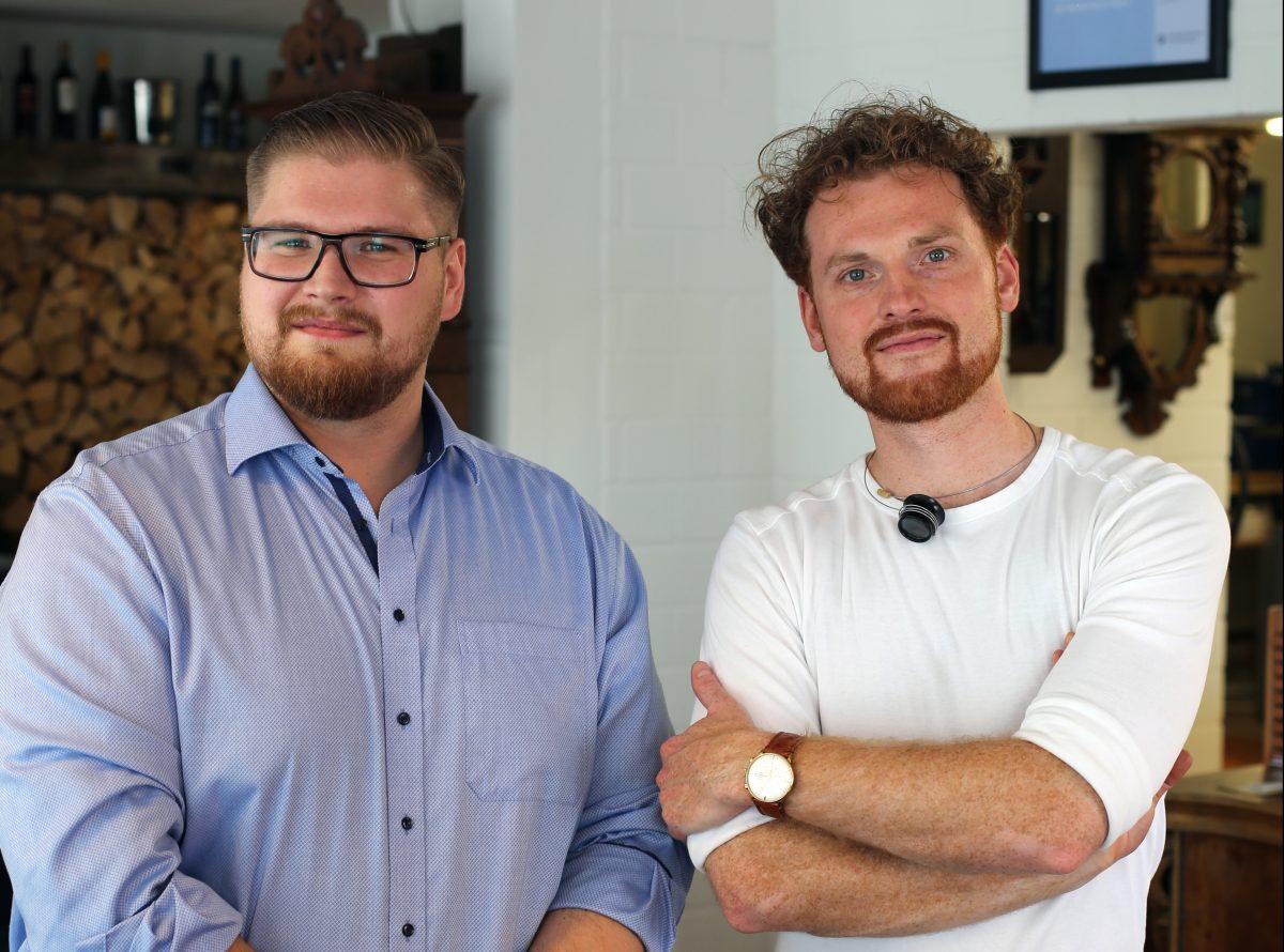 Die Geschäftsführer Sven Kurzidim und Michael Manßhardt lernten sich im Meisterkurs kennen. Foto: Merle Janßen