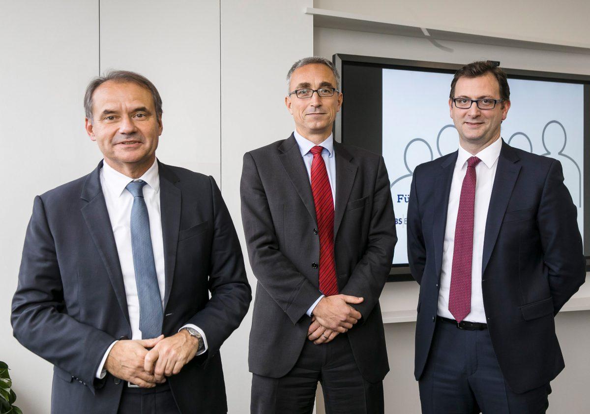 Ulrich Markurth , Dr. Volker Lang und Julien Mounier. Foto: BS Energy