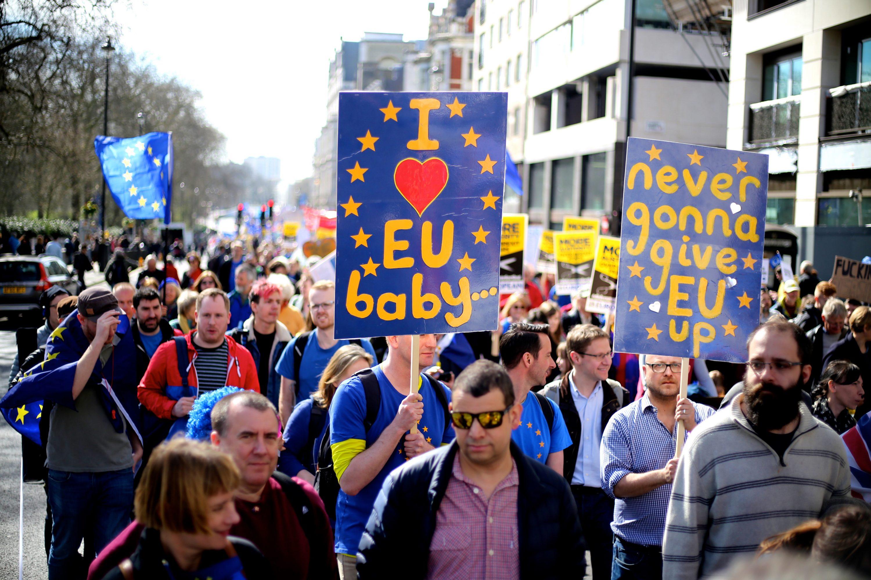 Der drohende Brexit ist ein politisches Ereignis, das den freien Handel auf der Welt weiter einschränken könnte. Foto: Ilovetheeu/Wikimedia