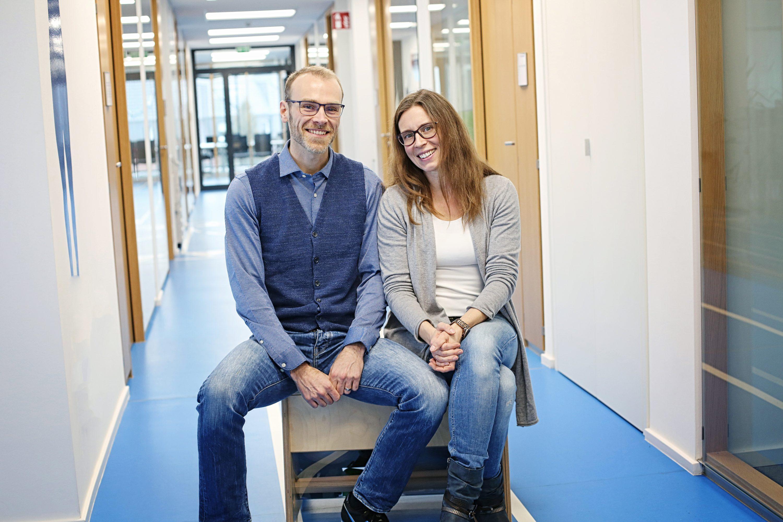 Maximilian Hohe und Katharina Thieme-Hohe, Geschäftsführer der Sport-Thieme GmbH. Foto: Holger Isermann