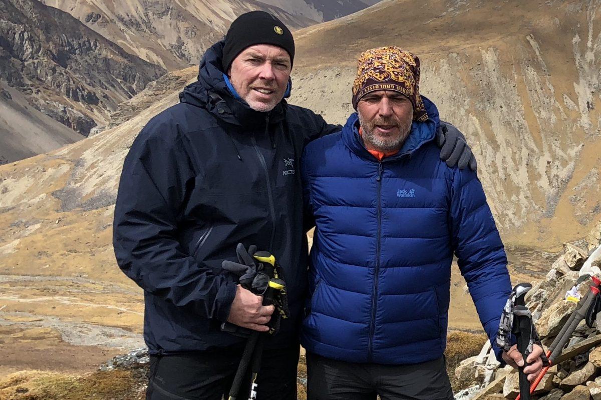 Axel Ditzinger und Joachim Franz während einer kurzen Verschnaufpause. Foto: Privat